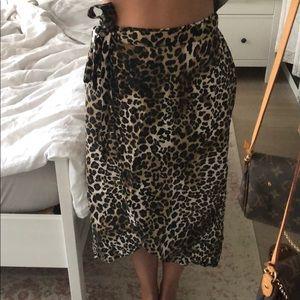 Cheetah print midi skirt